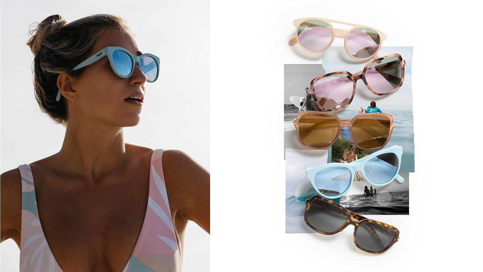 Designed for creators, swell followers and adventure seekers, our Sisstrevolution for D'Blanc collection brings spring colors and polarized lenses together in perfect harmony to create a go-to spread of frames for all sea-loving Sisstrs alike. Featuring a touch of coral on each frames tip, this polarized collection serves as an excuse to get us closer to the sea and a reminder to sustain its beauty and life.